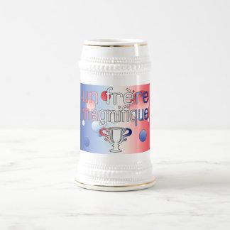 Un Frère Magnifique France Flag Colors Beer Steins
