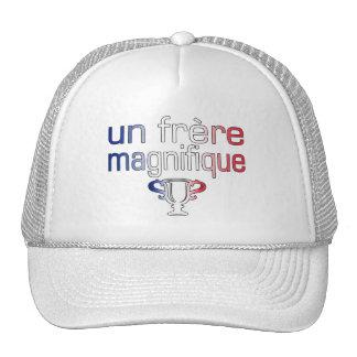 Un Frère Magnifique France Flag Colors Trucker Hat