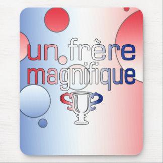 Un Frère Magnifique France Flag Colors Mouse Pad