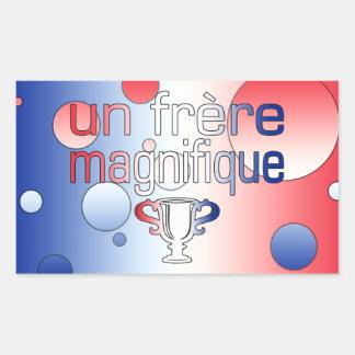 Un Frère Magnifique France Flag Colors Rectangular Sticker