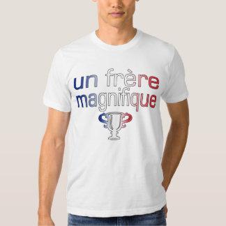 Un Frère Magnifique France Flag Colors T Shirts