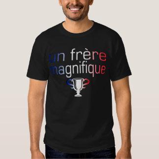 Un Frère Magnifique France Flag Colors Tee Shirts