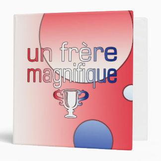 Un Frère Magnifique France Flag Colors Vinyl Binders