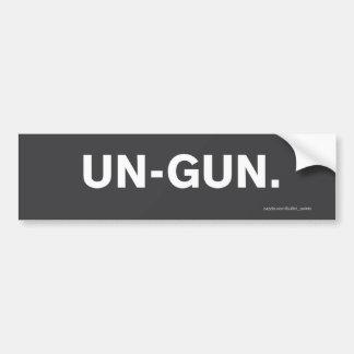 """""""Un-Gun"""" Bumper Sticker"""