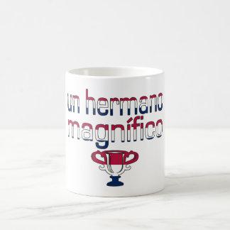 Un Hermano Magnífico America Flag Colors Coffee Mug