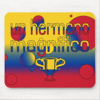 Un Hermano Magnífico Colombia Flag Colors Pop Art Mouse Mat