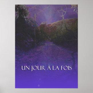 UN JOUR À LA FOIS (ODAT Purple Mountain Rd) Print