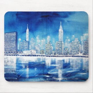 UN & Midtown East River Winter Mouse Pad