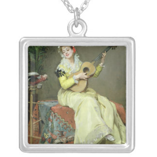 Un Moment Musical Silver Plated Necklace
