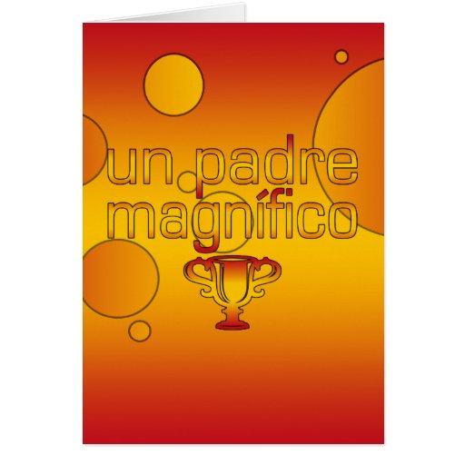 Un Padre Magnífico Spain Flag Colors Pop Art Cards
