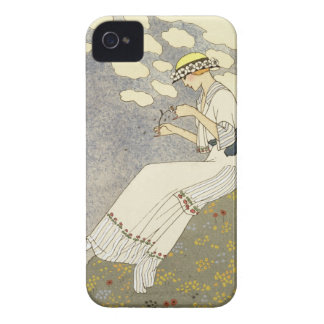 Un Peu..., design for a country dress by Paquin, 1 iPhone 4 Cover
