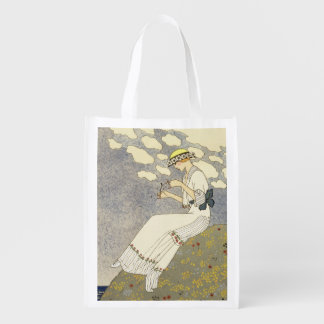 Un Peu..., design for a country dress by Paquin, 1 Reusable Grocery Bag