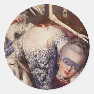 Un portrait pour l'Halloween Round Sticker
