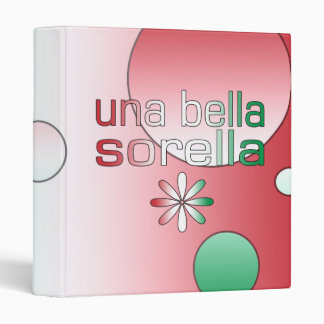 Una Bella Sorella Italy Flag Colors Pop Art 3 Ring Binders