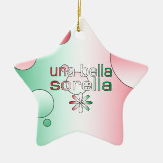 Una Bella Sorella Italy Flag Colors Pop Art Ceramic Star Decoration