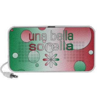 Una Bella Sorella Italy Flag Colors Pop Art Mini Speaker