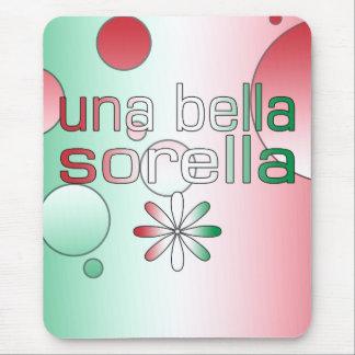 Una Bella Sorella Italy Flag Colors Pop Art Mouse Pad