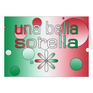 Una Bella Sorella Italy Flag Colors Pop Art Note Card