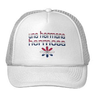 Una Hermana Hermosa America Flag Colors Cap