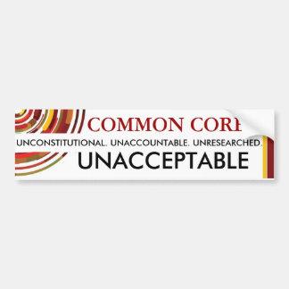 Unacceptable Common Core Bumper Stickers