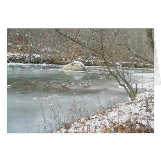 Unami Creek in Ice Note Card