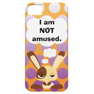 Unamused Bunny iPhone 5 Case