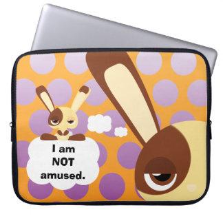 Unamused Bunny Laptop Sleeve