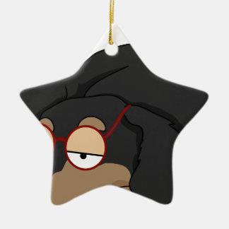 Unamused Dachshund Christmas Ornament
