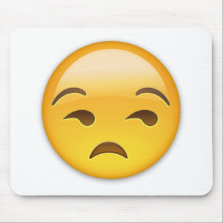 Unamused Face Emoji Mouse Pad