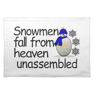 Unassembled Snowman Placemat