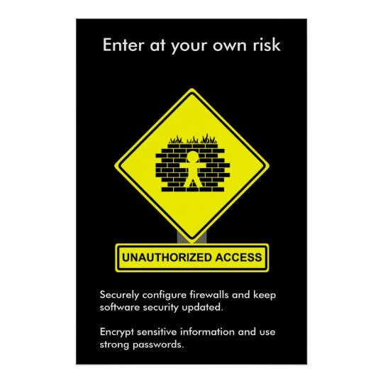 Unauthorised Access Security Awareness Poster