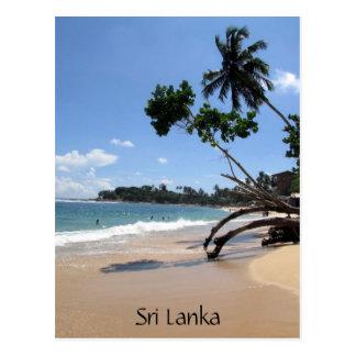 unawatuna beach sri lanka postcard