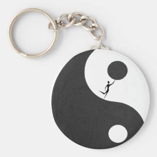 unbalanced basic round button key ring