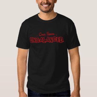 Unbalanced Red Logo Dark T Tshirt