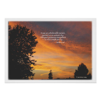 Unbelievable sunset poster