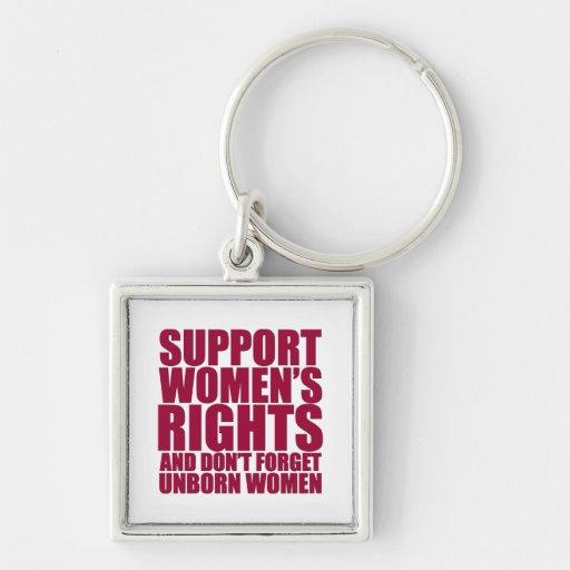 Unborn Women's Rights Keychains