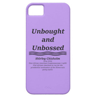 Unbought and Unbossed iPhone 5 Cover