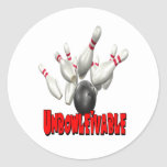 Unbowlievable Bowling Round Sticker
