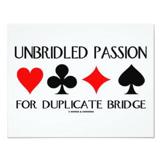 Unbridled Passion For Duplicate Bridge 11 Cm X 14 Cm Invitation Card