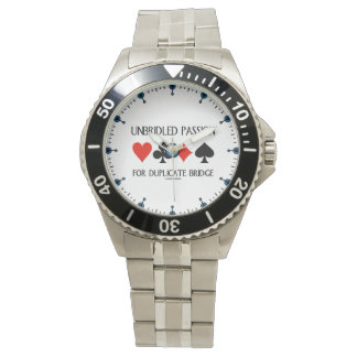 Unbridled Passion For Duplicate Bridge Card Suits Watch