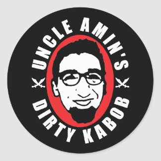 Uncle Amin's Dirty Kabob Sticker Black