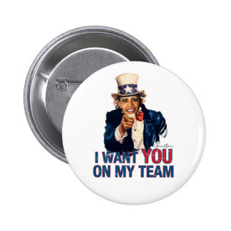 Uncle Barack Obama I Want You On My Team 6 Cm Round Badge