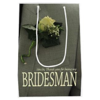 Uncle Bridesman thank you Medium Gift Bag