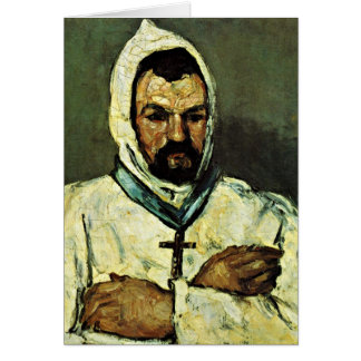 Uncle Dominique As A Monk By Paul Cezanne Greeting Card
