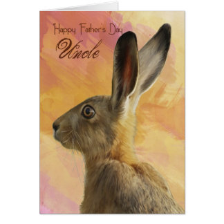 Uncle Father s Day Card With Wild Hare