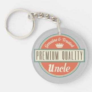 Uncle (Funny) Gift Single-Sided Round Acrylic Key Ring