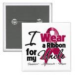 Uncle - Multiple Myeloma Ribbon Badges
