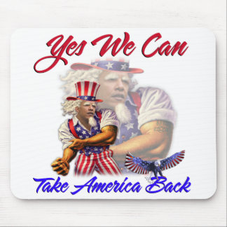 Uncle Obama, Yes We Can Take Back American Mouse Mat