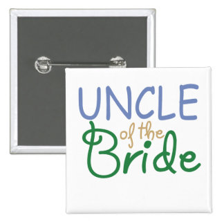 Uncle of the Bride 15 Cm Square Badge