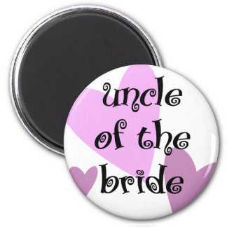 Uncle of the Bride 6 Cm Round Magnet